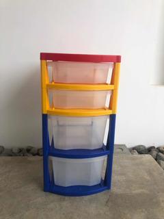 Lindo Mueble Multicolor 4 Gavetas Plásticas. Oportunidad!!!