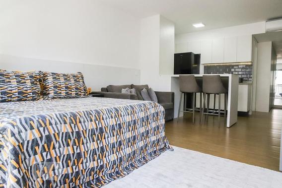 Studio No 4º Andar Com 1 Dormitório E 1 Garagem - Id: 892942919 - 242919