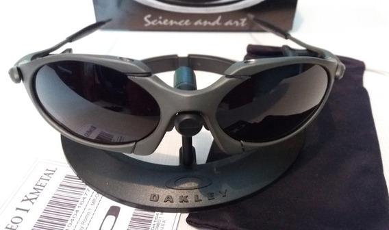 Oculos Lupa Oakley Romeo 1 X Metal Lentes Black Polarizadas