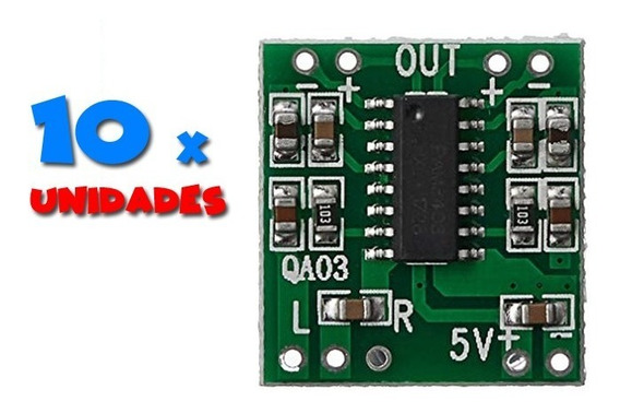 10 X Mini Amplificador Digital 2x3w 5v Pam 8403