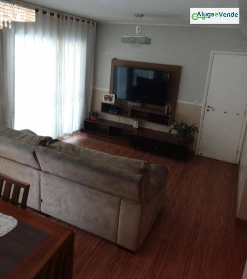 Apartamento Com 3 Dormitórios No Condomínio Parque Clube À Venda, 134 M² Por R$ 725.000 - Vila Augusta - Guarulhos/sp - Ap0072