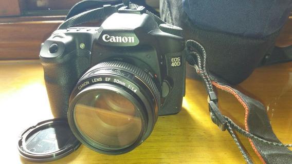 Máquina Fotográfica Cânon Eos 40d + Lente Canon Ef 50mm F1/4