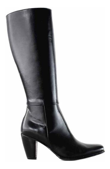 Bota Mujer Cuero Caña Alta Briganti Vestir Confort Mcbo02408