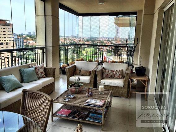 Apartamento Com 3 Suítes À Venda, 247 M² Por R$ 2.200.000 - Condomínio Único Campolim - Sorocaba/sp, Próximo Ao Shopping Iguatemi. - Ap0117