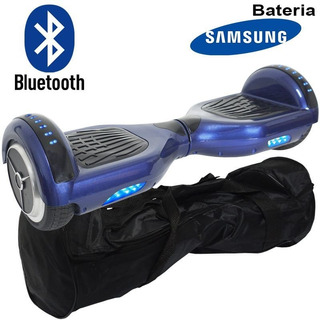 Hoverboard Skate 6,5 Led Bluetooth Bat Samsung Original Azul