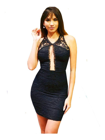 Vestido Renda Curto Justo Sexy Decot Panicat Blogueira Vrp09