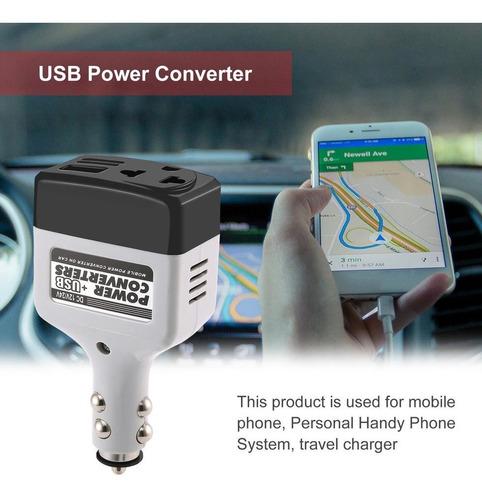 EmNarsissus DC 12//24 V a AC 220 V//USB 6 V Adaptador de inversor de Corriente para autom/óvil Convertidor de Cargador de autom/óvil de energ/ía para autom/óvil m/óvil con Interfaz USB