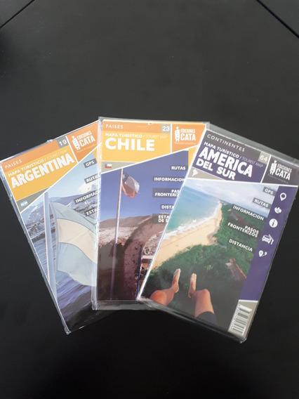 Mapas Argentina, Chile E América Do Sul