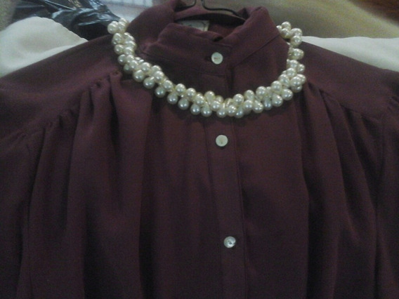 Collar Fantasia Imitación De Fina Perlas , Trenzadas