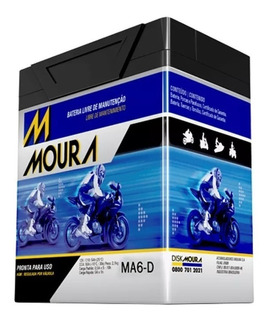 Bateria Ma6-d Moura Moto 6ah Cbx 250 Twister Xlx 250 Cb300