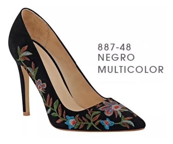 Zapatos Cklass Negro Bordado 887-48 Otoño Invierno 2018