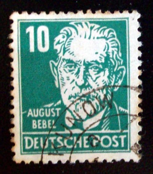 Alemania, Ddr - Sello Mi. 330 August Bebel 10pf Usado L4568