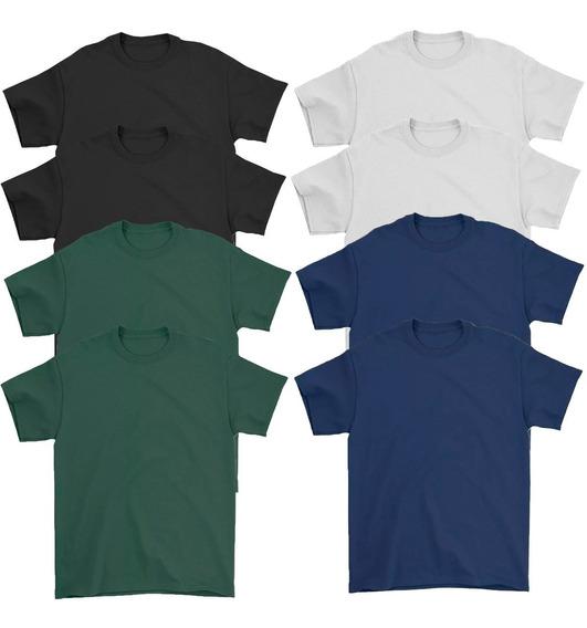 Kit 8 Camiseta Masculina Básica Algodão 30.1 Premium Atacado