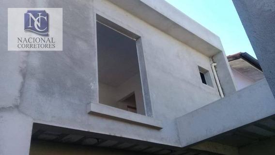 Sobrado Com 2 Dormitórios À Venda, 89 M² Por R$ 360.000 - Parque Novo Oratório - Santo André/sp - So3395
