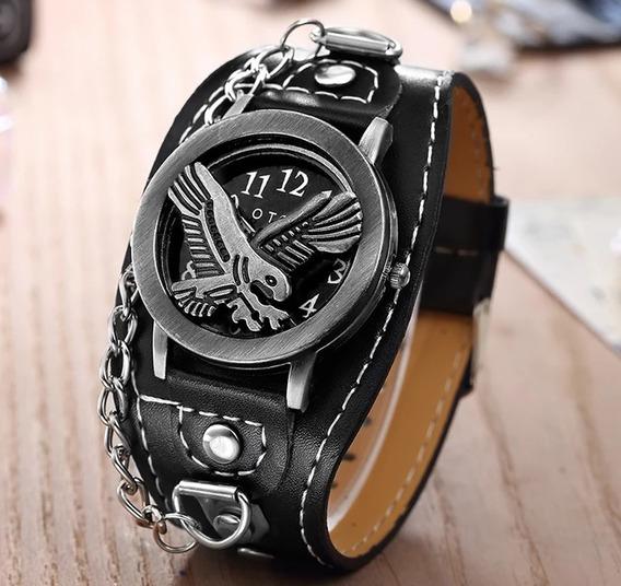 Relógio Unissex Aguia E Motorcicle