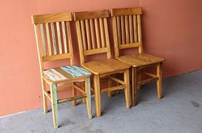 Cadeira Feita Com Madeira De Demolição