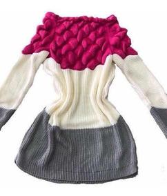 Blusa Tricot Linha 3d Escama Sereia Gominho Moda Instagram