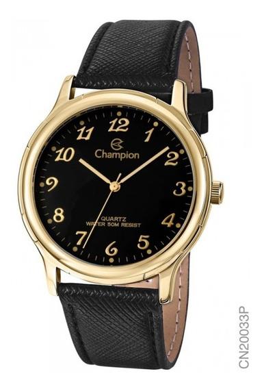 Relógio Champion Masculino Analógico Couro Cn20033p