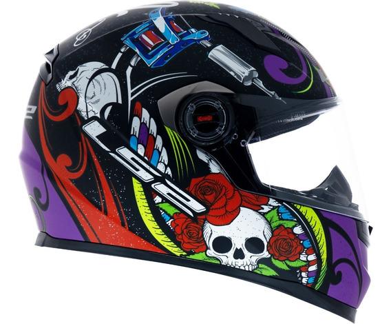 Capacete Ls2 Ff358 Pigment Fosco Violeta Para Moto