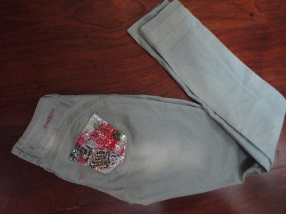 Calça Skinny Jeans Planet Girls 38 Bordada
