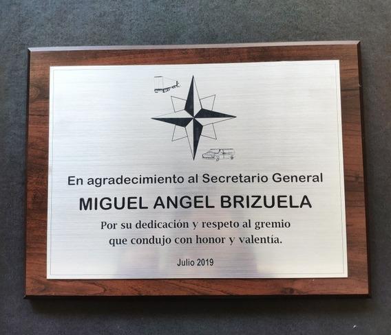 Placa Conmemorativa, Plaqueta, Grabado Incluido