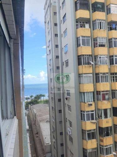 Imagem 1 de 11 de Kitchnete Reformado No Embaré - R$ 170 Mil - Santos - Ap6733