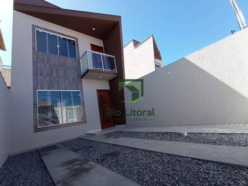 Casa Com 2 Dormitórios À Venda, 78 M² Por R$ 280.000,00 - Jardim Bela Vista - Rio Das Ostras/rj - Ca1046