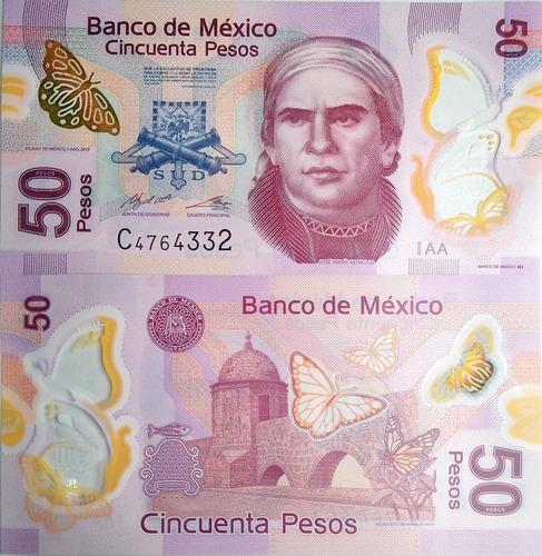 Imagen 1 de 4 de Billete Mexico 50 Pesos Polimero Sin Circular