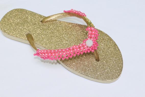 Chinelo Havaianas Personalizado Customizado Glitter Bordado