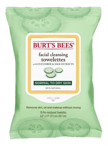 Toallitas Desmaquillantes Burts Bees Pepino Y Salvia 30un