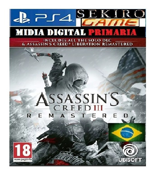 Assassins Creed 3 Iii Remastered Ps4 Original 1 Em Português