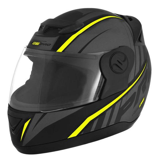 Capacete Evolution G6 788 Pro Neon Amarelo Tamanho 58