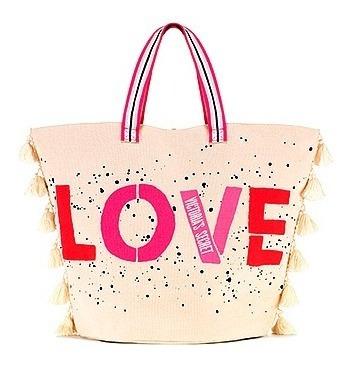 Victoria Secret Bolso Tote Love Con Pompones!