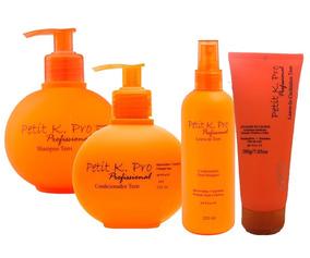 Petit Shampoo + Condicionador + Leave-in + Cachinhos K.pro