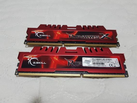 Memória G.skill Ripjaws X 4gb (2x4) Ddr3 Cl9 1600mhz