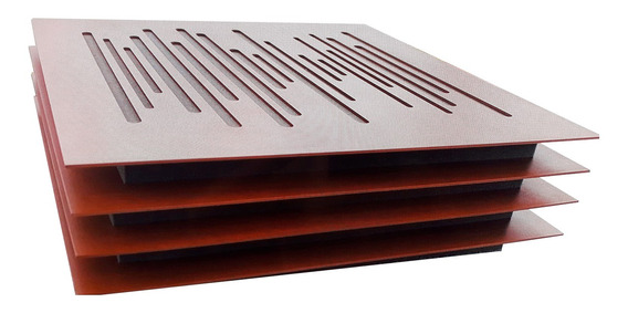 Panel Fonoabsorbente Tipo Resonador Acústico 60 X 60 X 6 Cm.