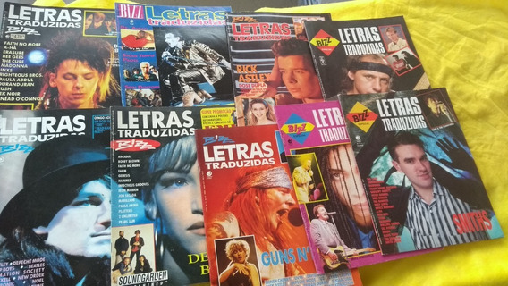 Bizz Letras Traduzidas Lote C/ 9 Revistas Complete A Coleção