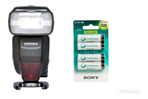 Flash Yongnuo Yn 568 Ex Ill C + Pilhas Sony Aa 2500mah