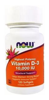 Now Foods Vitamina D3 10000ui 120 Cápsulas