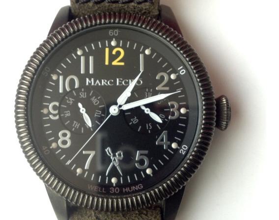 Reloj Marc Ecko Mod. Aviador. Cuarzo. Inusual. ¡impecable!