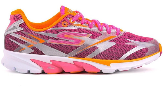 Skechers Zapatillas Mujer Go Run 4 Hot Pink / Orange