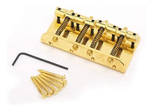 Imagem 1 de 6 de Ponte Vintage Para Baixo 4 Cordas Jazz Bass - Dourada