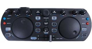 Controlador Dj Mini Moon Dmd 1000 Usb Mixer Musicapilar