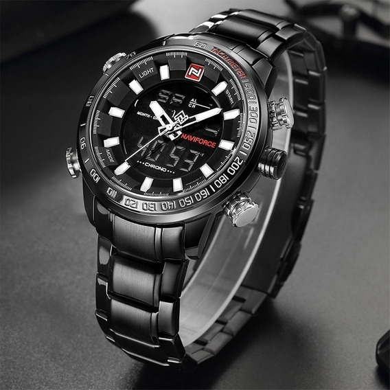 Relógio Masculino Militar Esportivo Luxo Naviforce Original **pronta Entrega** - Nf9093b