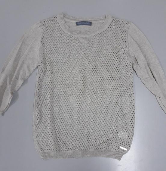 Sweater Mujer Beige Calado Verano Marca Brandel Beige M