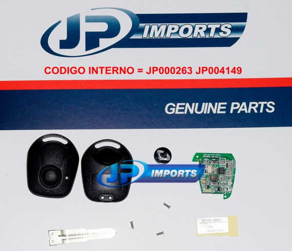Chave Ignicao + Transponder Ssangyong Actyon Kyron Rexton