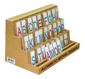 Alfabeto Móvel Degrau Em Mdf 130 Peças Carlu Brinquedos