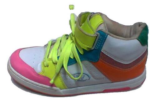Lindo Tênis Botinha  Em Couro Skate Wonder Unissex 38 - Excelente Estado De Conservação