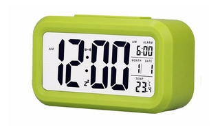 Reloj Big Screen Verde Despertador Snooze Digital
