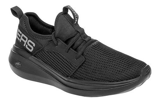 Skechers Tenis Casual Textil Negro Niño Memoryfoam Btk97329